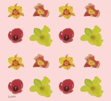 Tulipes sur fond peach echo Baby Tee