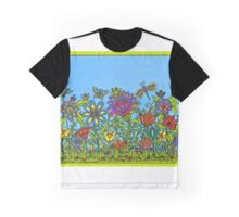 FLOWERS and FRIENDS Graphic T-Shirt