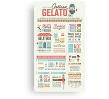 Artisan Gelato Infographic Poster Canvas Print