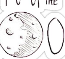 """""""I Love You To The Moon And Back"""" Tumblr Sticker"""