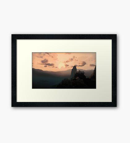 3D Landscape : Savannah - Adventure Framed Print