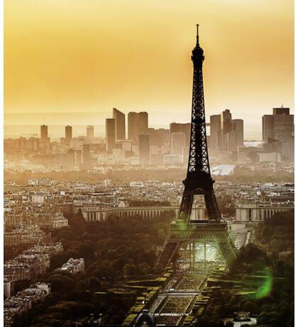Eiffel Tower Sunset Sticker