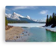 Maligne Lake, Canada (please view large) Canvas Print