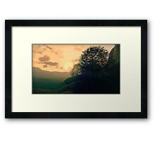 3D Landscape : Savannah - Valley Framed Print