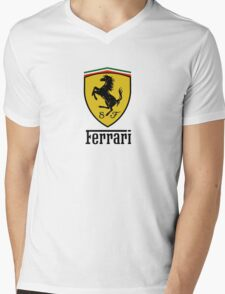 Ferrari  Mens V-Neck T-Shirt