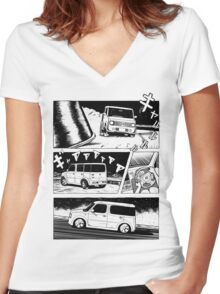Nissan Cube Gen 2 Women's Fitted V-Neck T-Shirt
