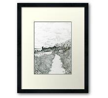 Coastal path at Crail in Fife [ East Coast of Scotland] [Pencil version] Framed Print