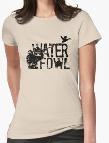 Waterfowl Hunting Womens Fitted T-Shirt