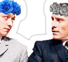 Charles and Erik flower crown edit Sticker