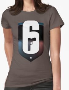 R6 Rainbow Six Siege inspired logo Womens Fitted T-Shirt