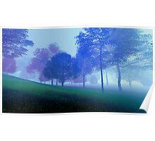 3D Landscape : Old Land - Purple Hills Poster