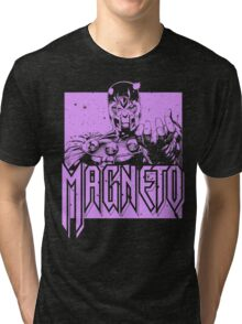 Magneto - Purple Tri-blend T-Shirt