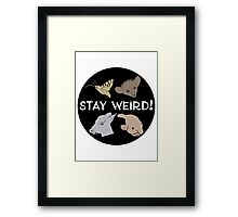 Stay Weird! Framed Print
