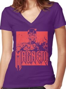 Magneto - Red Women's Fitted V-Neck T-Shirt