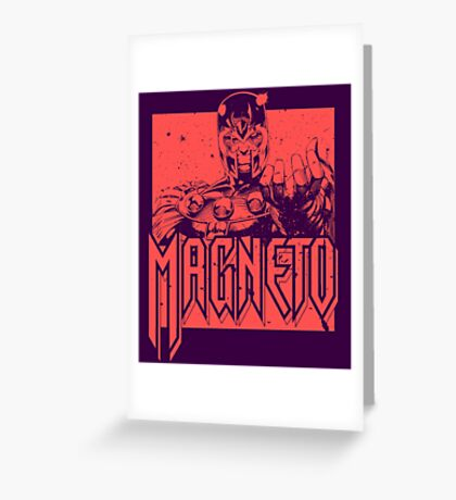 Magneto - Red Greeting Card