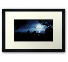 3D Landscape : Lost Islands - Moonshine Framed Print