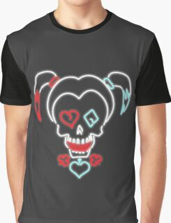 Neon Harley Quinn Sign Graphic T-Shirt