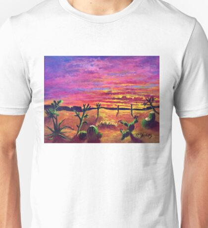 Desert Love at Sunset Unisex T-Shirt