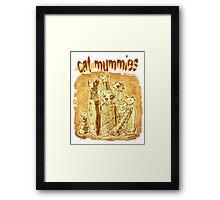 cat mummies Framed Print