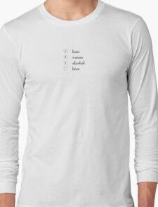 LEAN XANAX ALCOHOL [LOVE] Long Sleeve T-Shirt