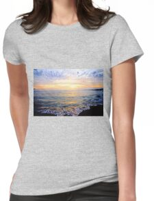 A Lacy Shoreline - O'Sullivan Beach Womens Fitted T-Shirt