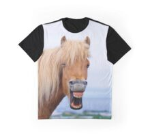 Funny Icelandic horse laughing Graphic T-Shirt