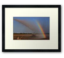 Irrigation Rainbow Framed Print