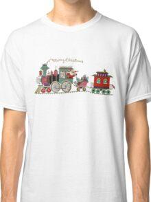 Cute Kawaii Merry Christmas Toy Train Santa is coming Classic T-Shirt