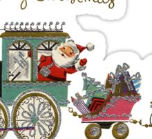 Cute Kawaii Merry Christmas Toy Train Santa is coming Sticker