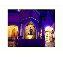 Cinderella's Fountain at Night Art Print