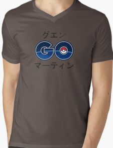 Cool Pokemon GO Japanese Text Mens V-Neck T-Shirt
