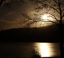 Loch Earn at midnight by Lesleymc77
