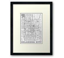 Oklahoma City Map Line Framed Print