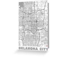 Oklahoma City Map Line Greeting Card