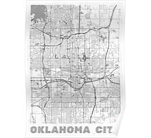 Oklahoma City Map Line Poster