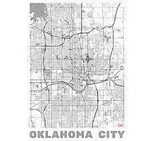 Oklahoma City Map Line Photographic Print