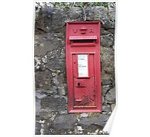 Traditional Red British Post Box in Wall [Royal Mail] Poster