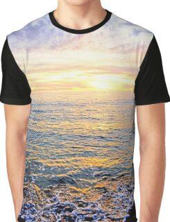 A Lacy Shoreline - O'Sullivan Beach Graphic T-Shirt