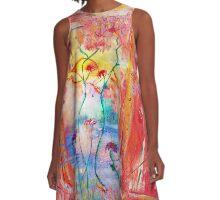 Rhythmic Flow of Joy A-Line Dress