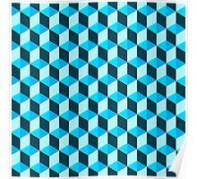 Blue 3D Background  Poster