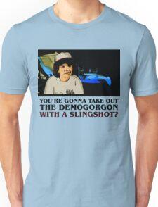 Stranger Things Dustin slingshot Unisex T-Shirt