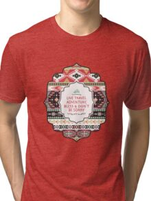 Pattern in native american style Tri-blend T-Shirt