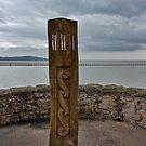 Wooden Marker Weston-super-Mare by Avril Harris