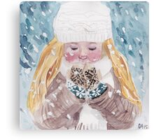 Loving Winter Canvas Print