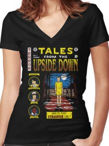 Tales from the Upside Down Women's Fitted V-Neck T-Shirt