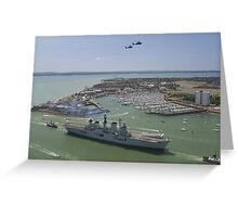 HMS Illustrious final return Greeting Card