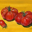 Stocking Up On Stockton Tomatoes by bernzweig