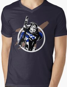 Garrus and Cruiser Mens V-Neck T-Shirt