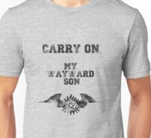"""Carry on, my wayward son"" Supernatural Print Unisex T-Shirt"