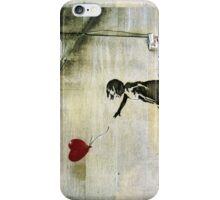 Banksy's Girl with a Red Balloon iPhone Case/Skin
